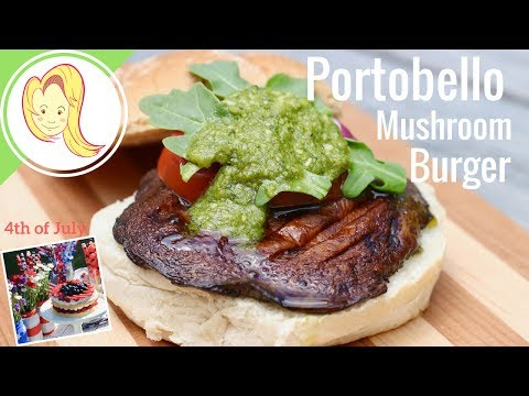 Portobello Mushroom Burger (Vegan)