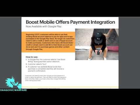 Purchase Apps in Google Play Store with Boost Mobile Money (HD)
