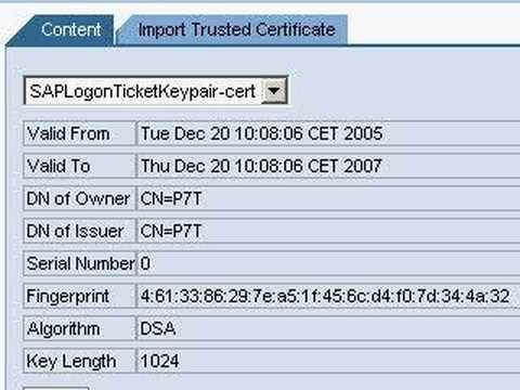 SAP NetWeaver Portal download verify.der