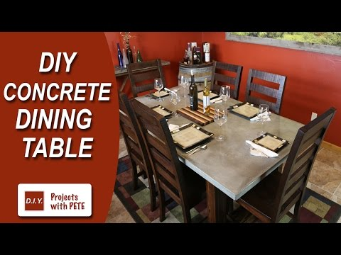 How to Make a Concrete Dining Table