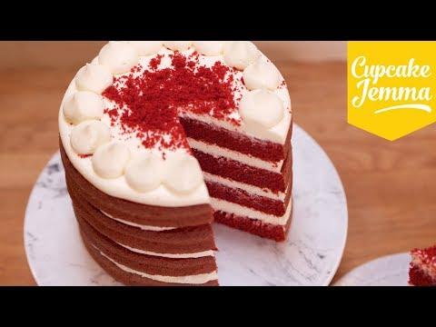 Best Ever Red Velvet Layer Cake Recipe! | Cupcake Jemma