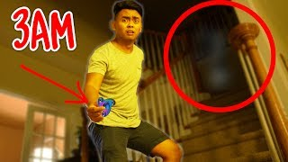 DO NOT SPIN FIDGET SPINNERS AT 3AM! (GHOST)