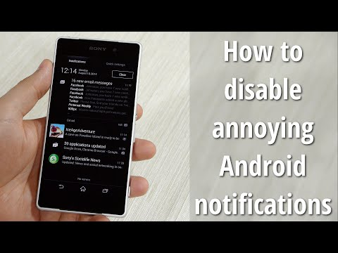 How to disable annoying Android notifications