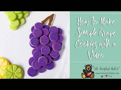 How to Make Simple Grape Cookies with a Video