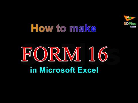 Make Form 16 and saving planner #1 in Ms Excel