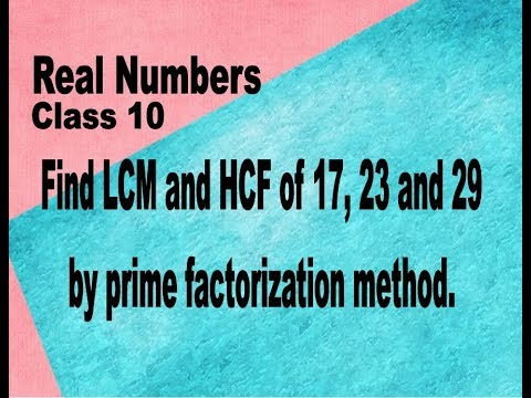 Mathematics Class 10 REAL NUMBERS Find LCM and HCF of 17, 23 and 29 by prime factorization.