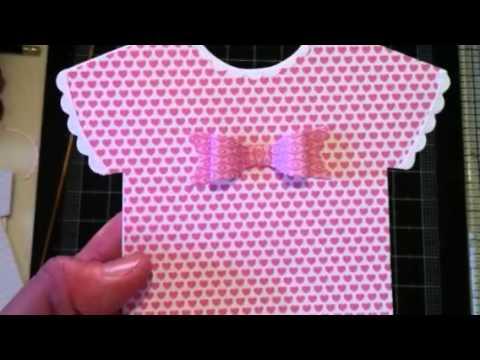 Handmade Baby Shower Invitations (Diemond Dies DTP)