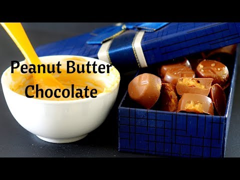 How to make Chocolate - Peanut Butter Chocolates - 3 Ingredients Peanut Butter Chocolate