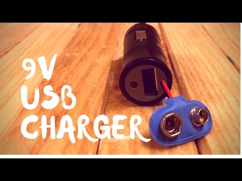 Making a portable USB charger (9v battery)