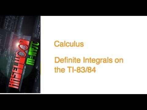 Calculus - Definite Integrals: TI-83/84