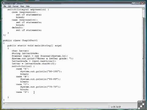 16 01 The switch Statement   Part 1