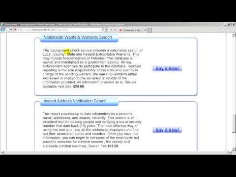 Databaserecords.com How To Search For Verified Safe Nationwide Criminal Warrants