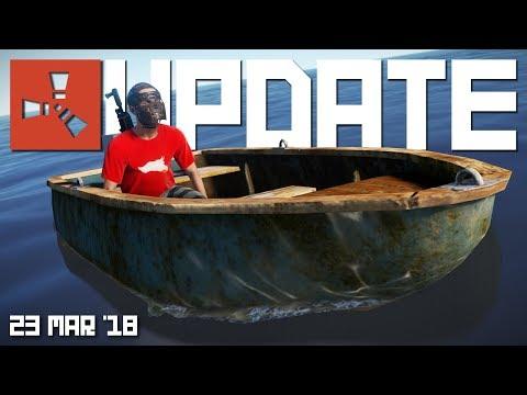 Row boats & modular vehicle news | Rust Update 23rd March 2018