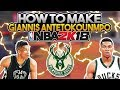 How To Make Your Player EXACTLY Like Giannis Antetokounmpo In NBA 2K18! Player Build & Face Creation