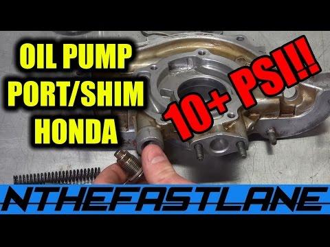 Oil Pump: How To Port & Shim (Honda)