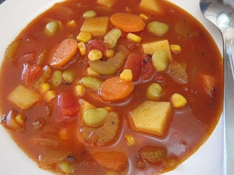 VEGETABLE SOUP - How to make simple Basic VEGETABLE SOUP Recipe