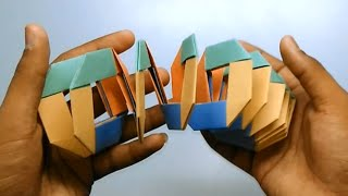 Origami Slinky - Easy to make and fun to play wiith