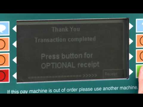 How to use a ParkPlus pay machine
