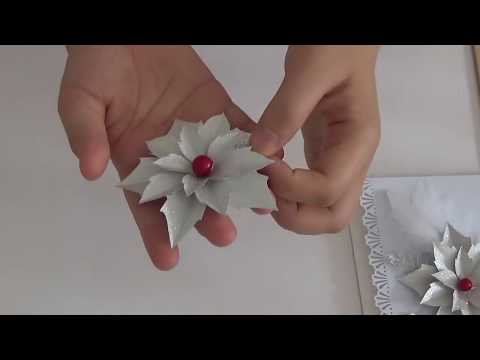 DIY Silver Christmas Flower Tutorial