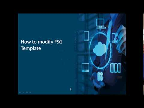How to Modify FSG Template