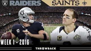 A Gutsy Call in the Superdome! (Raiders vs. Saints, 2016 Week 1)