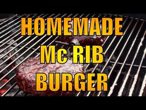 Mc Rib BBQ Burger - Made at home recipe - BBQFOOD4U