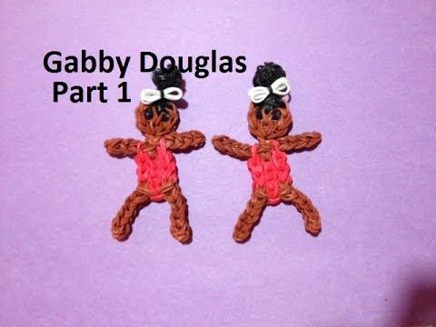 How to Make Gabby Douglas on the Rainbow Loom - Original Design Part 1