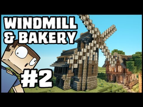 Minecraft Lets Build: Windmill & Bakery - Part 2