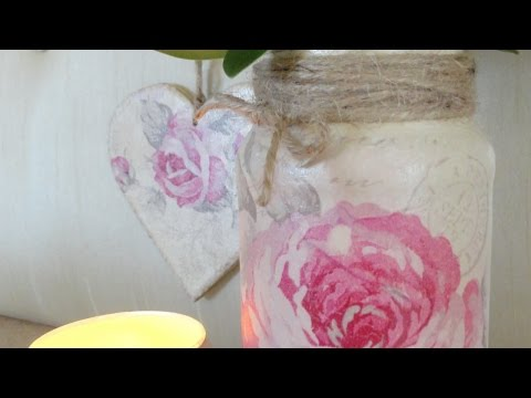 Makeover a Pasta Jar with Rose Decoupage - DIY Home - Guidecentral
