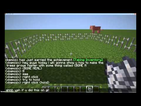 Minecraft - How To Make The Tree And Plants Grows up Faster (Without the rain!)