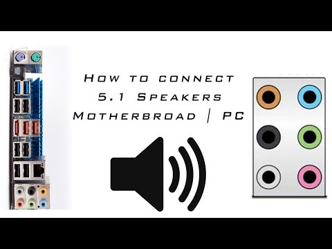 How to connect 5.1 Speakers | Motherbroad | PC | Computer