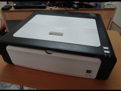 Ricoh Aficio SP 100 Mono Laser Printer - Unboxing, Short Review & Set up