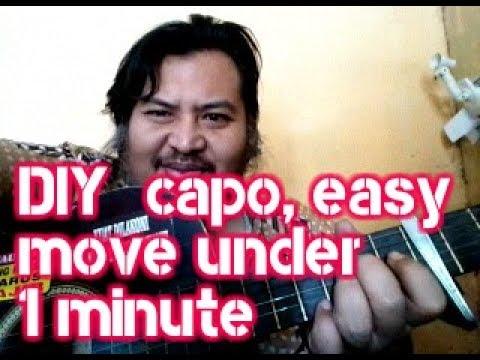 DIY: MAKE CAPO UNDER 1 MINUTE