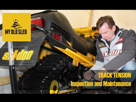 Snowmobile Track Inspection, Maintenance and Tension