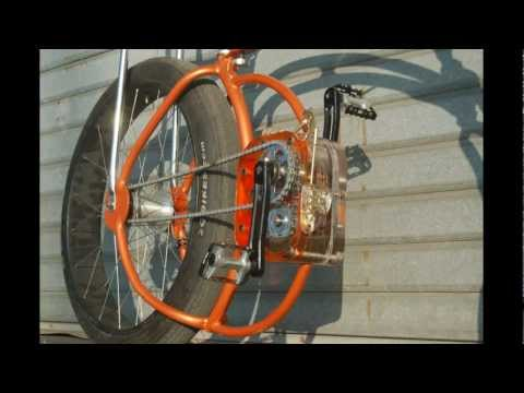 homemade drag-SWING BIKE with gearbox----tricks and donuts-----