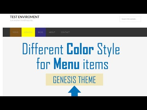 Different color style for each Menu Item in Genesis