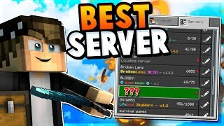 PLAYING AS TINY!!! | MCPE SkyWars - HyperLands Server
