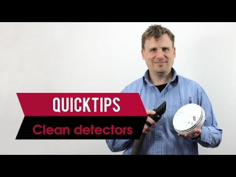 QUICK TIP - How to clean a smoke detector