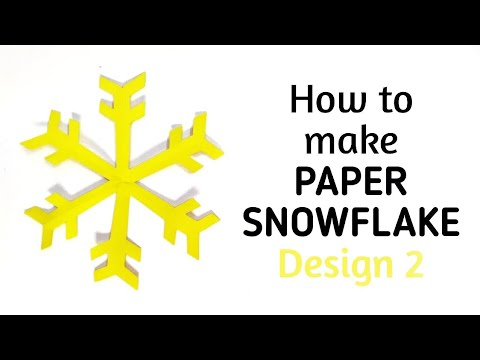 How to make simple & easy paper snowflake - 2 | Kirigami / Paper Cutting Craft Videos & Tutorials.