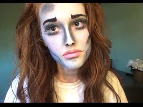 Easy Corpse Bride Halloween Makeup Tutorial