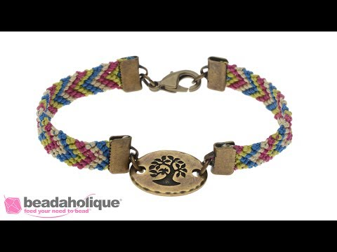 How to Finish Friendship Bracelet Weaving with Ribbon Crimps