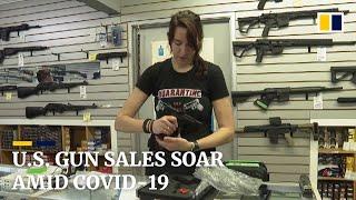 Coronavirus: US gun sales soar amid Covid-19 pandemic fears