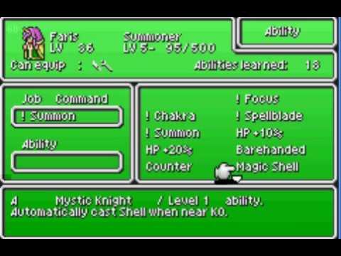 Final Fantasy V - Master Jobs Quickly (Worlds 2 & 3)