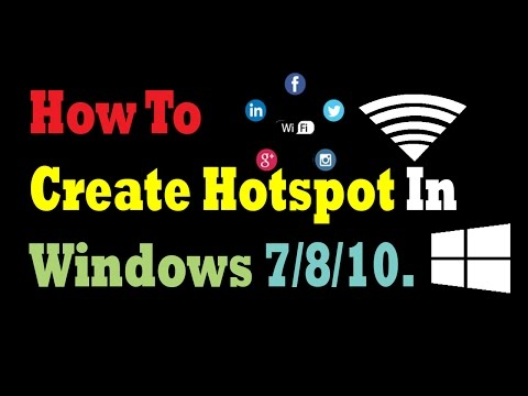 How To Create Hotspot Without Using Any Software |  In Windows 7/8/10