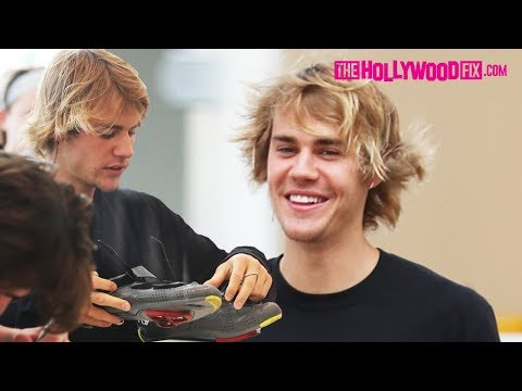 Justin Bieber Flirts With A Girl At SoulCycle Before His Spin Class In Beverly Hills 4.6.18