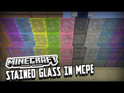 HOW TO HAVE STAINED GLASS IN MINECRAFT PE 1.0 (Pocket Edition)