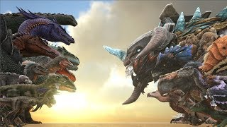 EVERY TheIsland Creature VS EVERY OTHER Creature in ARK | Cantex