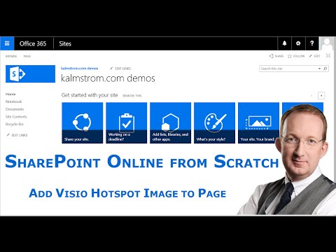 Add Visio Hotspot Image to SharePoint Page