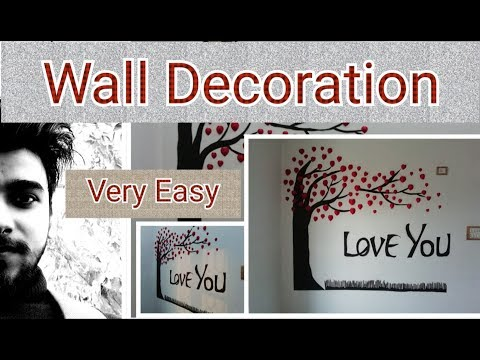 Wall Decoration tutorial |wall stickers easy making |by vishwadeep