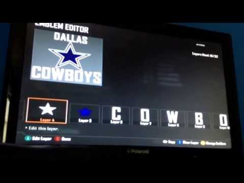 How to make a Dallas Cowboys emblem on bo2! Part 2  Dallas above logo...